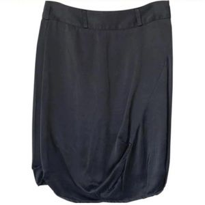 100% SILK - SfRD Charcoal Skirt - Sz XS/S